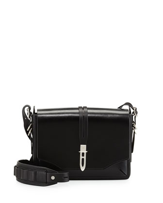 Enfield Flap Shoulder Bag, Black