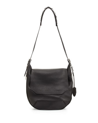 Bradbury Leather Hobo Bag, Black