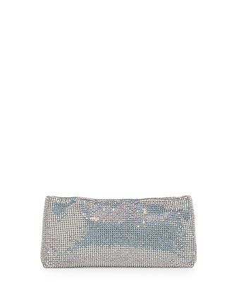 Maykimay Crystal Mesh Clutch Bag, Gray
