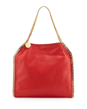 Falabella Small Tote Bag, Red