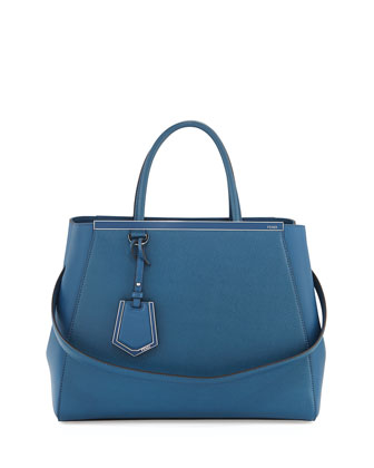 2Jours Vitello Elite Medium Tote Bag, Blue