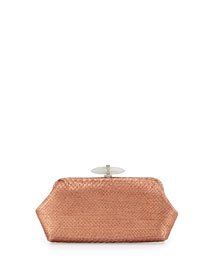 Whitman Metallic Python Clutch Bag, Copper