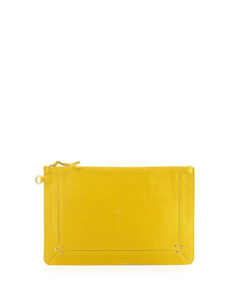 Pop Zip Clutch Bag, Yellow