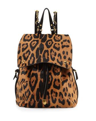 Florent Leopard-Print Backpack