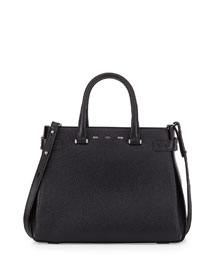 Boulevard 32 Lux Leather Tote Bag, Black