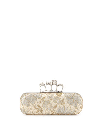 Lake Tulip Lace Knuckle-Duster Clutch Bag