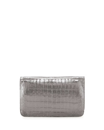 Crocodile Wallet on a Chain, Gray