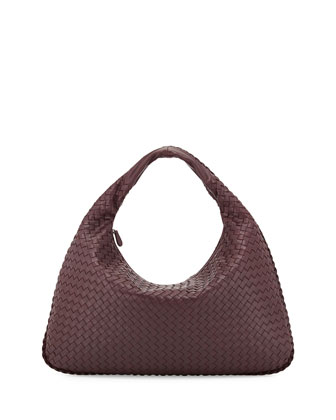 Veneta Large Hobo Bag, Burgundy