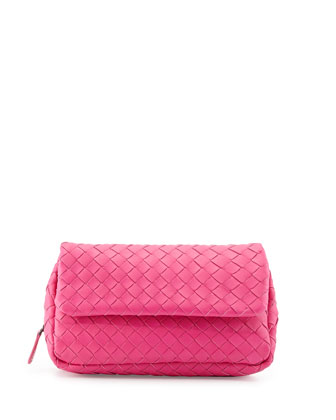 Woven Mini Crossbody Bag, Hot Pink