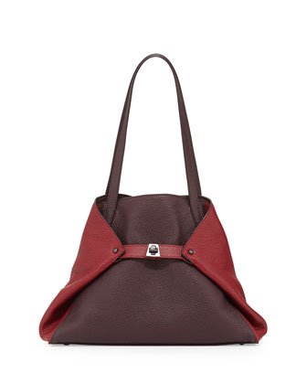 Ai Extra-Small Messenger Bag, Burgundy