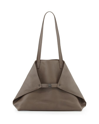Ai Medium Shoulder Tote Bag, Brown