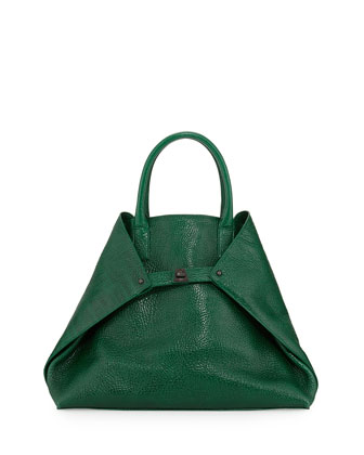 Ai Medium Top-Handle Tote Bag, Green