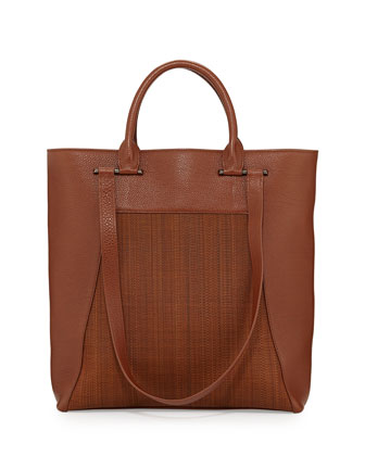 Andy Medium Leather Tote Bag, Brown