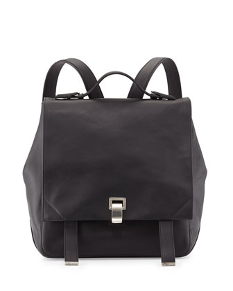 PS Leather Backpack, Black