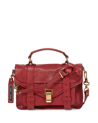 PS1 Mini Satchel Bag, Red
