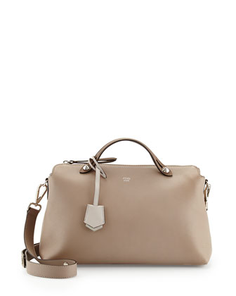 By The Way Bauletto Grande Satchel Bag, Light Gray