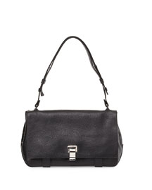 PS Courier Leather Satchel Bag, Black