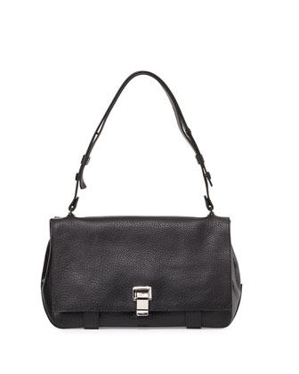 PS Courier Leather Satchel Bag, Black