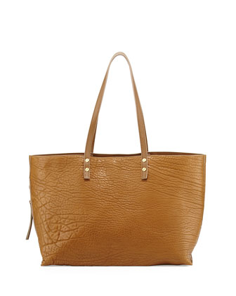 Dilan Large Leather Tote Bag, Khaki