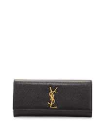 Monogram Grained Calfskin Clutch Bag, Black