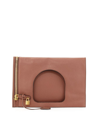 Alix Medium Padlock & Zip Shoulder Bag, Desert Rose