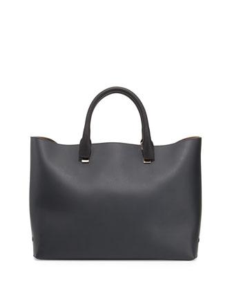 Baylee Bicolor Medium Tote Bag, Black/White