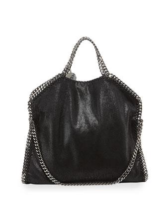 Falabella Fold-Over Bag, Black
