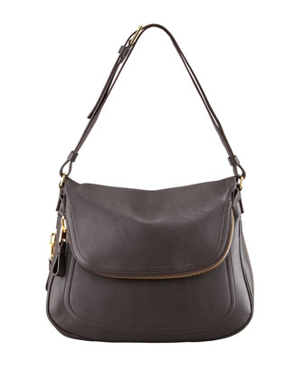 Jennifer Large Shoulder Bag, Brown