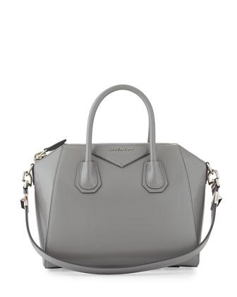 Antigona Small Box Satchel Bag, Gray