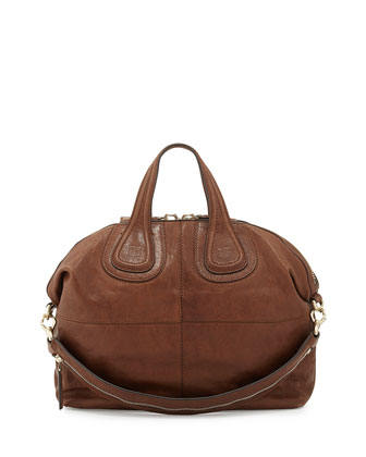 Nightingale Medium Zanzi Satchel Bag, Medium Brown