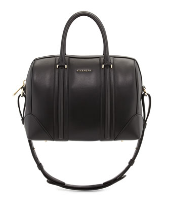 Lucrezia Medium Satchel Bag, Black