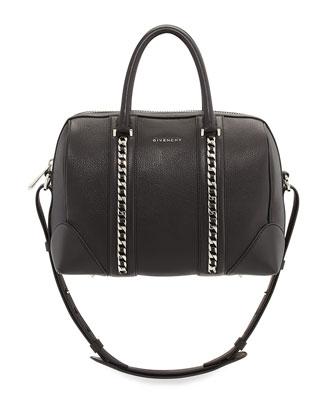 Lucrezia Sugar Chain Satchel Bag, Black