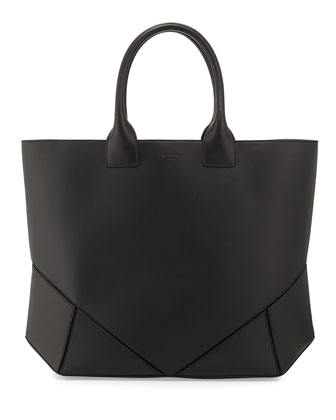 Napa Stitched Easy Tote Bag, Black