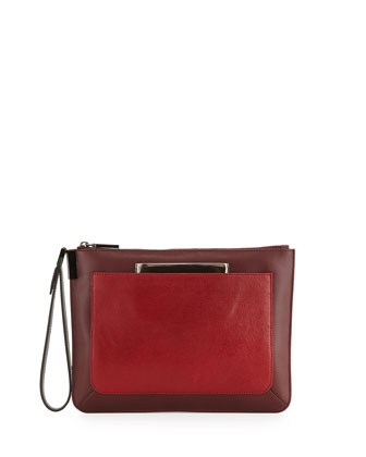 Ishi Small Wristlet Clutch, Red