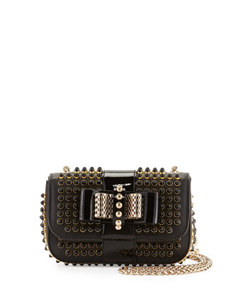 Sweet Charity Mini Spiked Shoulder Bag, Black