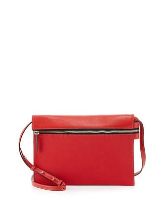 Zip Pouch Crossbody Bag, Red