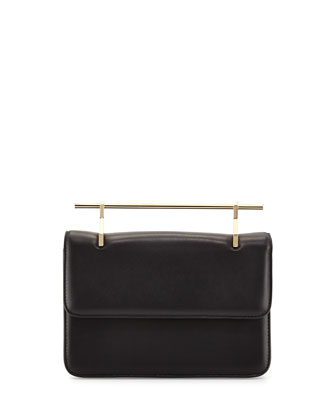 La Fleur Du Mal Leather Bag, Black