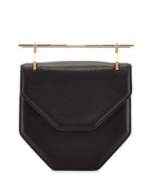 Amor/Fati Leather Flap Bag, Black