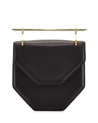 Amor/Fati Leather Flap Bag, Black