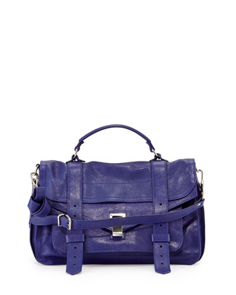 PS1 Medium Satchel Bag, Royal