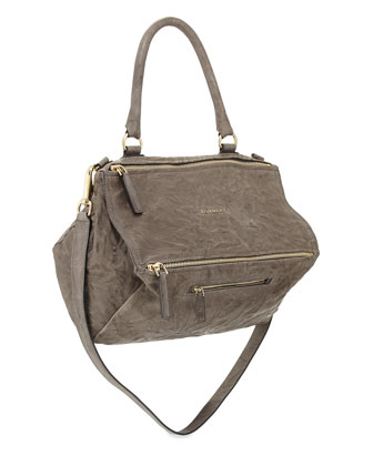 Pandora Pepe Medium Shoulder Bag, Charcoal