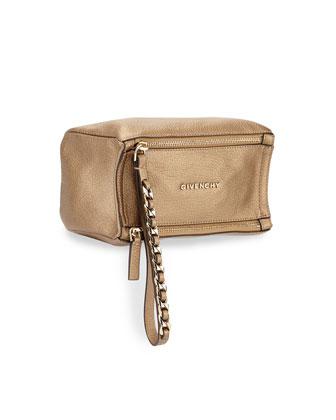Pandora Metallic Wristlet Bag, Golden