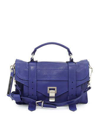 PS1 Tiny Leather Shoulder Bag, Royal