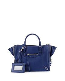 Papier A4 Mini Leather Tote Bag, Blue