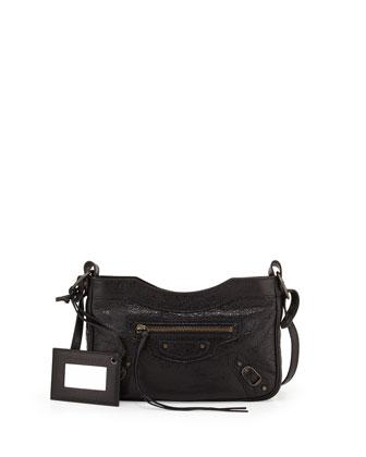 Classic Hip Crossbody Bag, Black