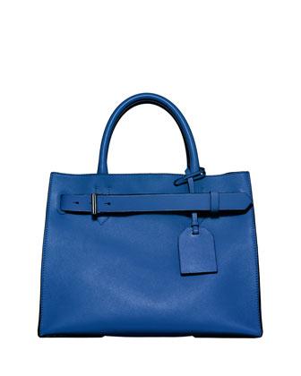 RK40 Belted Leather Tote Bag, Blue