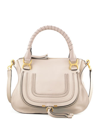 Marcie Satchel Bag, White