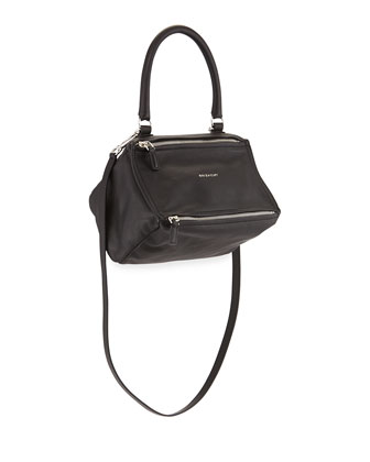 Pandora Small Leather Shoulder Bag, Black