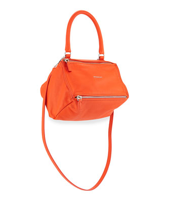 Pandora Small Leather Shoulder Bag, Orange