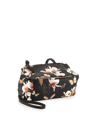 Pandora Mini Magnolia-Print Shoulder Bag